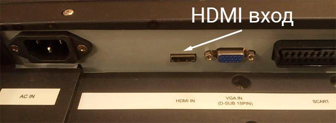 HDMI вход на телевизоре